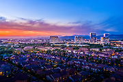 Sunset Over Irvine Spectrum Skyline and Neighborhood Area