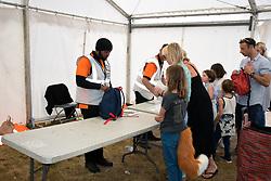 Latitude Festival, Henham Park, Suffolk, UK July 2019. Security from campsite into arena