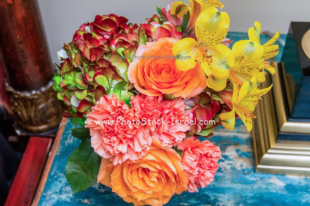 colourful flower arrangement bouquet