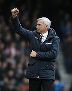 Crystal Palace's Alan Pardew celebrates his sides third goal<br /> <br /> Barclays Premier League - West Ham United  vs Crystal Palace  - Upton Park - England - 28th February 2015 - Picture David Klein/Sportimage