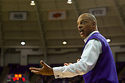FORT WORTH, TX - JANUARY 7: TCU Horned Frogs head coach Trent Johnson has words with an official while his team hosts the Kansas State Wildcats on January 7, 2014 at Daniel-Meyer Coliseum in Fort Worth, Texas.  (Photo by Cooper Neill/Getty Images) *** Local Caption *** Trent Johnson