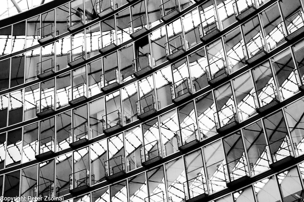Details of the Sony Building in Berlin, Germany