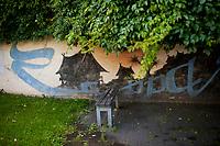 13.06.2014 Wilno Litwa N/z jedyny na swiecie pomnik amerykanskiego gitarzysty Franka Zappy przy ulicy Kalinausko fot Michal Kosc / AGENCJA WSCHOD