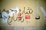 Graffiti opposing President Mohamed Morsi of the Muslim Brotherhood on a wall, Cairo, Egypt