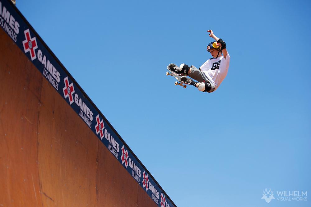 Tom Schaar during Skate Vert Finals at the 2013 X Games Los Angeles in Los Angeles, CA. ©Brett Wilhelm/ESPN