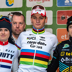 2019-12-15: Cycling: Overijse: Mathieu van der Poel wins the Druivencross ahead of Tom Pidcock and Quinten Hermans