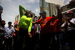July 27, 2017 - Caracas, Capital District, Venezuela - Thousands of officials from early morning on July 27, 2017, concentrated in different points of the center of the capital of Venezuela to offer their support to the Bolivarian Revolution and participate in the closing of electoral campaign for the elections of the members Of the National Constituent Assembly (ANC), which will be held on 30 July. (Credit Image: © Adrian Manzol via ZUMA Wire)
