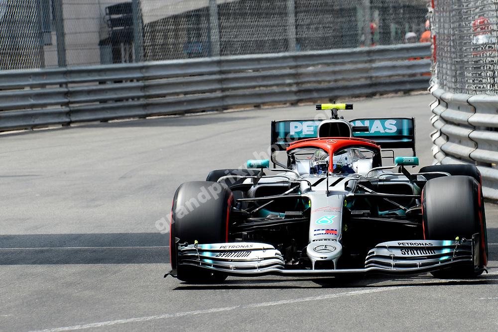 Valtteri Bottas (Mercedes) during qualifying for the 2019 Monaco Grand Prix. Photo: Grand Prix Photo