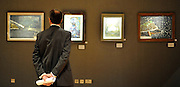 ©London News pictures. 07.02.2011. Irish Art on display at Boham's today (07/02/11) ahead of its sale. Highlights include a portrait of Francis Bacon, one of Britain's leading 20th century artists, painted by one of his friends, Louis Le Brocquy. The watercolour, titled Image of Francis Bacon No 18, is estimated to sell for £60,000 to £80,000. The sale is held on February 8th. Bonhams, 101 New Bond Street, London, UK.. Picture Credit should read Stephen Simpson/LNP