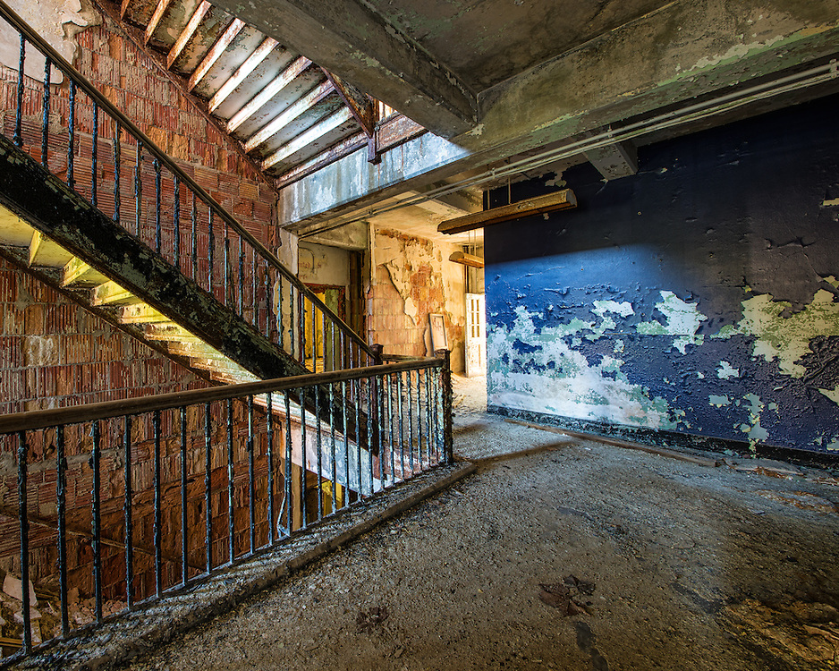 """The Abandoned """"White Hall"""" at Chanute Air Force base in Rantoul, IL."""