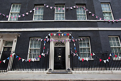© licensed to London News Pictures. London, UK 01/06/2012. Downing Street pictured with Diamond Jubilee buntings this morning (01/06/12). Photo credit: Tolga Akmen/LNP