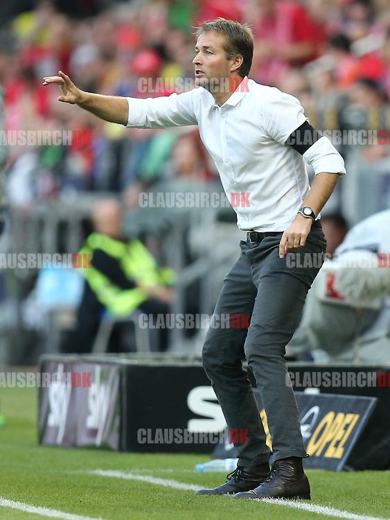 FOOTBALL: Head Coach Kasper Hjulmand (1. FSV Mainz 05) during the Bundesliga match between 1. FSV Mainz 05 and Borussia Dortmund at Coface Arena on September 20, 2014 in Mainz, Germany. Photo: Claus Birch.
