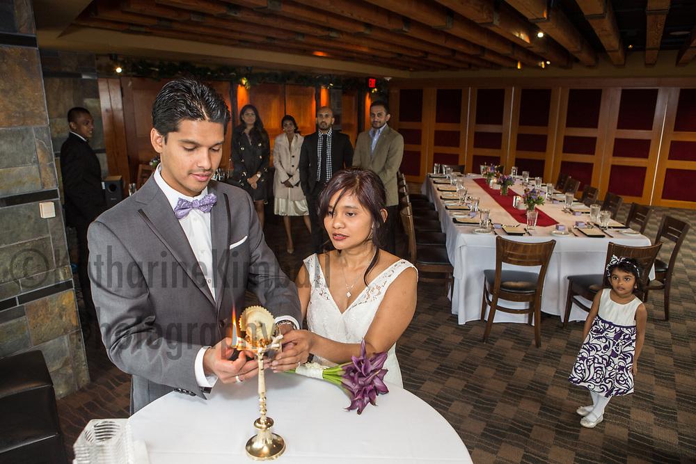 Wedding at Portland City Grill, Oregon.