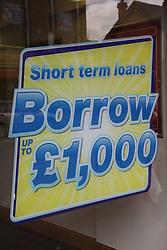 Sign offering short term loans