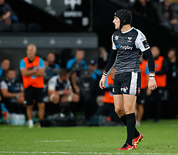 Sam Davies of Ospreys<br /> <br /> Photographer Simon King/Replay Images<br /> <br /> Guinness PRO14 Round 2 - Ospreys v Cheetahs - Saturday 8th September 2018 - Liberty Stadium - Swansea<br /> <br /> World Copyright © Replay Images . All rights reserved. info@replayimages.co.uk - http://replayimages.co.uk