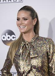 November 20, 2016 - Los Angeles, California, U.S - Heidi Klum on the Red Carpet of the 2016 American Music  Awards held on Sunday, November 20, 2016 at the Microsoft  Theatre in Los Angeles, California. (Credit Image: © Prensa Internacional via ZUMA Wire)