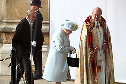 Queen Ellzabeth II and the Duke of Edinburgh arrive ahead of the wedding of Princess Eugenie to Jack Brooksbank at St George's Chapel in Windsor Castle.