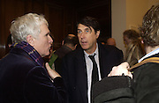 Glenn O'Brien and Bryan Ferry. Warhol's World. Photography and Television. Hauser and Wirth. Piccadilly, London. 26  January 2006.  ONE TIME USE ONLY - DO NOT ARCHIVE  © Copyright Photograph by Dafydd Jones 66 Stockwell Park Rd. London SW9 0DA Tel 020 7733 0108 www.dafjones.com