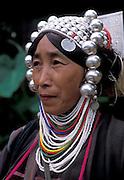 Portrait of Akha tribeswoman, Lampang, Thailand