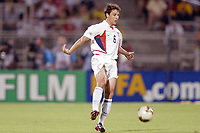 FOTBALL - CONFEDERATIONS CUP 2003 - GROUP B - BRASIL v USA - 030621 - STEVE CHERUNDOLO (USA) - PHOTO JEAN MARIE HERVIO /  DIGITALSPORT