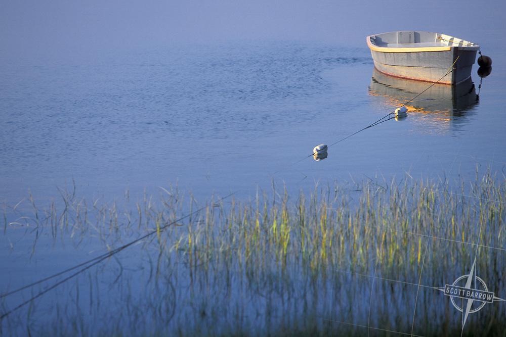 Rowboat mooring.