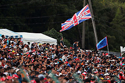 Fans in the grandstand.<br /> 08.10.2016. Formula 1 World Championship, Rd 17, Japanese Grand Prix, Suzuka, Japan, Qualifying Day.<br /> Copyright: Photo4 / XPB Images / action press