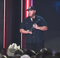 Performances and awards presentations during the 52nd Annual CMA Awards at the Bridgestone Arena hosted by Carrie Underwood and Brad Paisley. 14 Nov 2018 Pictured: Luke Combs. Photo credit: MBS/MEGA TheMegaAgency.com +1 888 505 6342
