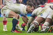 Twickenham, Surrey. UK.  Danny CARE, places the ball into the scrum, during the Six Nations Rugby Match, England vs Wales RFU Stadium, Twickenham. Surrey, England. on Saturday 10.02.18<br /> <br /> <br /> [Mandatory Credit Peter SPURRIER/Intersport Images]