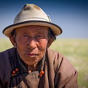 Portrait of old Mongolian horseman in Gobi Desert (, Mongolia - Sep. 2008) (Image ID: 080906-1404181a)