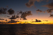 Sunset, Tahaa, Raiatea, French Polynesia, South Pacific