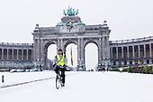 20130115 snowy Brussels