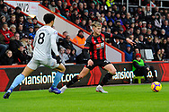 David Brooks (20) of AFC Bournemouth during the Premier League match between Bournemouth and West Ham United at the Vitality Stadium, Bournemouth, England on 19 January 2019.