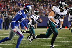 Philadelphia Eagles quarterback Michael Vick #7 looks for a receiver during the NFL game between the Philadelphia Eagles and the New York Giants on December 13th 2009. The Eagles won 45-38 at Giants Stadium in East Rutherford, New Jersey. (Photo By Brian Garfinkel)