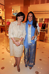 Left to right, CHERIE BLAIR and SARA CARELLO at a party to celebrate the opening of the Louis Vuitton Bond Street Maison, New Bond Street, London on 25th May 2010.