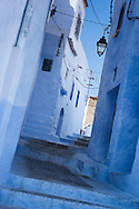 Alley in the medina of Chefchaouen, Morocco.