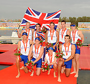 Shunyi, CHINA. GBR M8+,  Men's eights final,  Silver  medalist at the 2008 Olympic Regatta, Shunyi Rowing Course.  Sun 17.08.2008.  [Mandatory Credit: Peter SPURRIER, Intersport Images