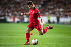 March 22, 2019 - Lisbon, Portugal - Raphael Guerreiro of Portugal in action during the Qualifiers - Group B to Euro 2020 football match between Portugal vs Ukraine. (Credit Image: © Henrique Casinhas/SOPA Images via ZUMA Wire)