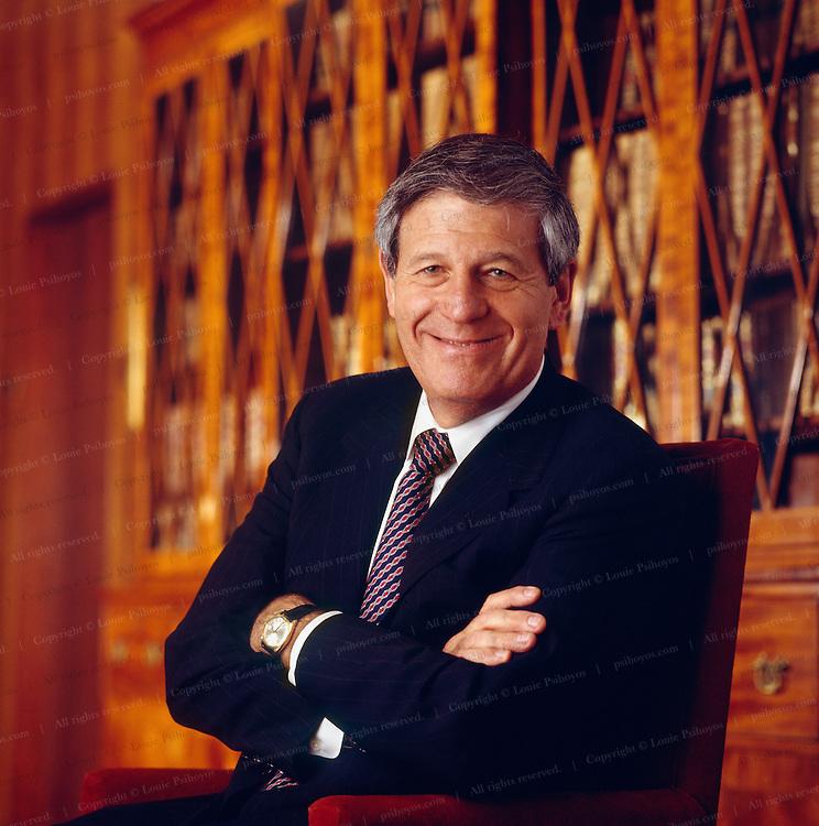 Edwin Artzt CEO of Proctor and Gamble at company headquarters in Cincinatti, Ohio.