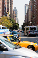 traffic on 5th avenue, New York City in October 2008