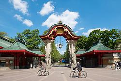 Entrance to Berlin Zoo in Charlottenburg, Berlin, Germany
