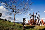 Brumadinho_MG, Brasil...Centro de Arte Contemporanea Inhotim (CACI). Na foto a obra Bean Drop, de Cris Burden...The Inhotim Contemporary Art Center (CACI). In this photo the art Bean Drop of Cris Burden...Foto: NIDIN SANCHES / NITRO
