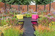 The Colour Box by Charli Bloom and Simon Webster  - The Hampton Court Flower Show, organised by the Royal Horticultural Society (RHS). In the grounds of the Hampton Court Palace, London.