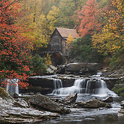 The old gristmill is seen amidst the colors of fall in Babcock State Park near Clifftop, W.V., on Saturday, October 27, 2018.