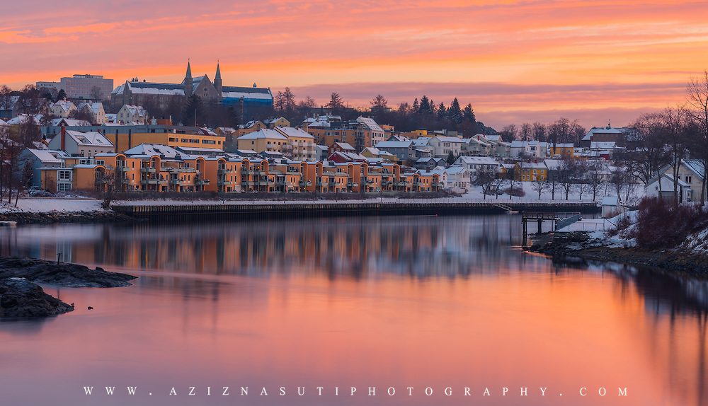 A Very beautiful February Sunset Over Trondheim.