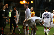 Nathan Jones, the Luton Town manager © calls out his instructions from the touchline.EFL Skybet football league two match, Newport county v Luton Town at Rodney Parade in Newport, South Wales on Tuesday 21st March 2017.<br /> pic by Andrew Orchard,  Andrew Orchard sports photography.