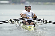 2002 FISA World Cup. Hazewinkel. BEL.       Saturday  15/06/2002     .email images@Intersport-images.com.[Mandatory Credit: Peter Spurrier/Intersport Images]  .15/06/2002.Rowing    .EGY M4- at the start Rowing, FISA WC.Hazenwinkel, BEL