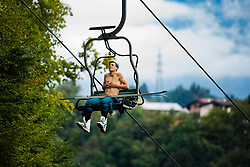 Domen Prevc during practice session of Slovenian national Ski Jumping team on 18 August, 2020, in Kranj, Slovenia.  Photo by Grega Valancic / Sportida