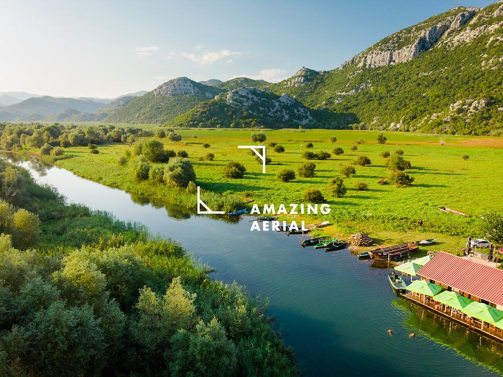 Aerial view of Dodosi, Lake Skadar, Montenegro.