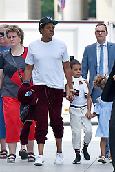 EXCLUSIVE: Jay-Z seen in a park with his daughter Blue Ivy Carter, six, whilst in Berlin. Jay-Z and wife Beyonce are currently on a joint tour around Europe. 29 Jun 2018 Pictured: Jay Z and Blue Ivy. Photo credit: Karadshow/MEGA TheMegaAgency.com +1 888 505 6342