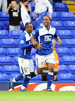 Fotball<br /> England<br /> Foto: Fotosports/Digitalsport<br /> NORWAY ONLY<br /> <br /> Birmingham City v Burnley Premiership 01.05.10<br /> <br /> Cameron Jerome Birmingham City celebrates 1st goal with fellow goal scorer Chucho
